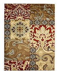 EORC W9018BN Delora Floral Rug, 5'3 x 7'3, Multi