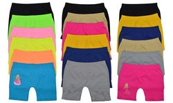 To Be In Style Girl's Long Boyshorts Pack of 6 - Assorted - Size: Small