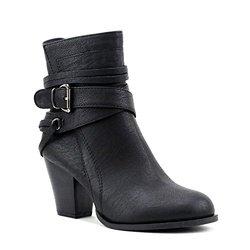 Newtown Multi Strap Buckle Ankle Booties: Black/6
