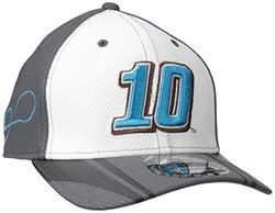 NASCAR Danica Patrick Stretch Fit Driver's Cap - White/Graphite - Size:S/M