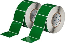 "Brady 3""x2.5"" H Adhesive-Taped Polyester Printer Label - 500/Roll - Green"