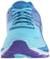 b4bbf2a07b6 ASICS Women's Gel-Nimbus 18 Running Shoe, Turquoise/Iris/Methyl Blue, 8.5 D  US