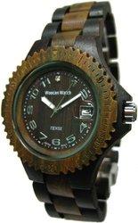 Tense Wood G4100DG Men's Dark/Green Sandalwood Watch