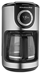 KitchenAid 12 Cup Glass Carafe Coffee Maker - Black/Silver