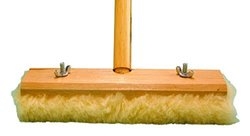 "Magnolia Brush 2318 LH Virgin Wool Latex Coated Janitor Wax Applicator, 18"" Length x 2-3/4"" Width (Case of 12)"