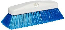 "Carlisle 4127814 Sparta Spectrum Flo-Thru Flared Wall and Equipment Brush, Nylon Bristles, 2-1/2"" Bristle Trim, 10"" Overall Length, Blue"