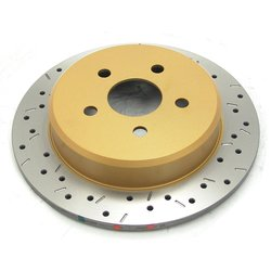4000 Series XS Premium Cross-Drilled & Slotted Rear Solid Disc Brake Rotor
