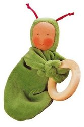 Kathe Kruse Unisex Rainbow Grabbing Ring Doll - Green (74173)