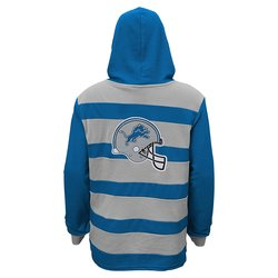 NFL Detroit Lions Youth Boys Striped Hoodie - Blue - Size: Youth XL (18)