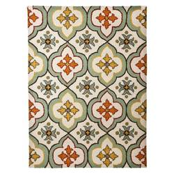 "Threshold 1'8"" x 2'10"" Floral Bell Hand Tufted Indoor/Outdoor Area Rug"