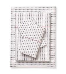Brooklyn & Bond Poplar Dot Bed Sheet Set - White/Navy - Size: Queen