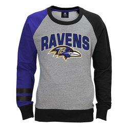 NFL Baltimore Ravens Unisex Fleece Crew Sweatshirt - Heather Grey -Sz: XL