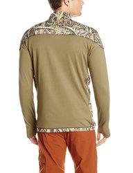 Men's Mossy Oak 1/4 Zip Technical Fleece Jacket - Shadowgrass Blades/2XL