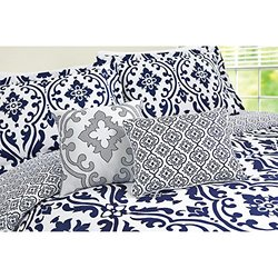 Better Homes and Gardens Indigo Scrollwork Piece Bedding Comforter Set 5