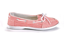 Sociology Women's Bonnie-68 Canvas Boat Shoes - Red Stripe - Size: 7