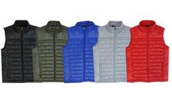 Spire By Galaxy Premium Light Weight Puffer Vest - Black - Size: Medium