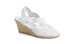 Bucco Women's Kimora Espadrille Stretch Band Sandal - White - Size: 6