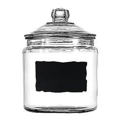 Anchor Hocking Heritage Hill 1 Gal. Glass Dry Storage Jar Chalkboard Label