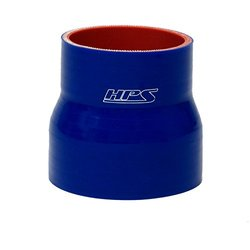 "HPS HTSR-275-350-L4-BLUE Silicone High Temperature 4-ply Reinforced Reducer Coupler Hose, 50 PSI Maximum Pressure, 4"" Length, 2.75"" > 3.5"" ID, Blue"