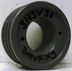 Browning 3H3V31 Split Taper Sheave, Cast Iron, 3 Groove, 3V Belt, Uses H Bushing