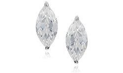 Women's 2.00 CTTW Swarovski Elements Crystal Studs - Sterling Silver