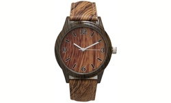 Geneva Unisex Cork and Wood Watches - Brown