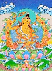 Exotic India Arapachana Manjushri - Tibetan Thangka Painting