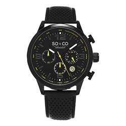 Mens Sport Chronograph: GP16110 - Black Band/Black Dial