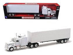 New Ray NR15843 Kenworth W900 Plain White Unmarked 1-43 Model