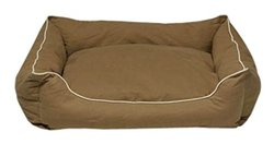 Dog Gone Smart Khaki Lounger Dog Bed X-Small Tan