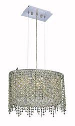 Elegant Lighting Moda 3 Light Chandelier with Strass Swarovski Chrystals
