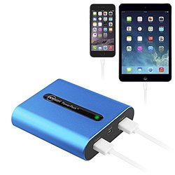 Powerpack Battery Charger W/LG Battery: 10400mah-metallic Ice Blue