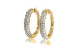 1 10 Cttw Diamond Hoop Earring Yellow Gold over Brass - KK13NV0028-Y0
