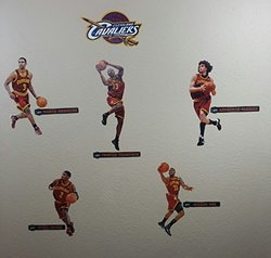 Cleveland Cavaliers Mini FATHEAD Team Set of 11 Official NFL Vinyl Wall Graphics (5 Players + 5 Names)cs + Cavaliers Logo Graphic)