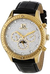 Joshua & Sons Men's JS-41-YG Sparkling Mechanical Multi-Function Strap Watch