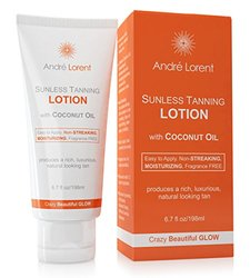 Ultimate Self Tanning Lotion - Andre Lorent Crazy Beautiful Tan & Bronzer - Produces a Rich, Luxurious, Natural Looking Tan - Moisturizes & Hydrates Skin with Anti-Aging Ingredients - Long Lasting