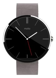 Motorola Moto 360 Bluetooth Leather Stone SmartWatch - Grey (00583NARTL)