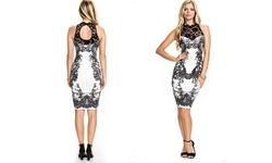 Leo Rosi Women's Kristen Dress - Black/White - Size Medium