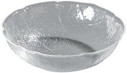 "Carlisle LB1607 Acrylic Leaf Bowl, 8 qt. Capacity, 15-1/4"" Dia. x 4-3/4"" H, Clear (Case of 4)"