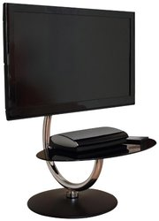 Modern C TV Stand black