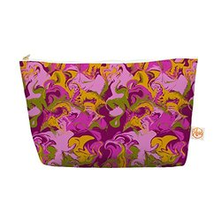 "Kess InHouse Everything Bag, Tapered Pouch, Anneline Sophia ""Marbleized in Plum"" Pink Purple, 8.5 x 4 Inches (AS1019BEP03)"