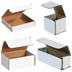 "Bauxko 6"" x 2 1/2"" x 2 3/8"" Corrugated Mailers, 12-Pack"