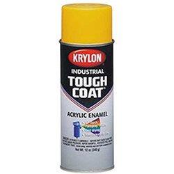 Krylon S01310 16oz Industrial Tough Coat Acrylic Enamel, OSHA Yellow,
