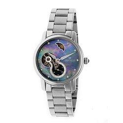 Empress Theodora Ladies Watch: Silver Band/ Black Dial (EM1202)