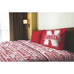 NCAA Applique Bedding Comforter 3 Pc Set - Nebraska - Size: Twin