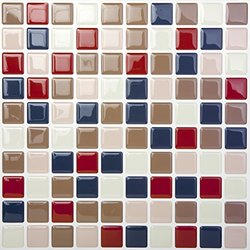 Tic Tac Tiles®-High Quality Anti-mold Peel and Stick Wall Tile in Square Navyred (10)