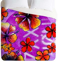 Sophia Buddenhagen Tropical Bali Lightweight Duvet Cover, Queen