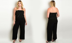 Women's Plus Size Wide Leg Jumpsuits - Black - Size: 3XLarge