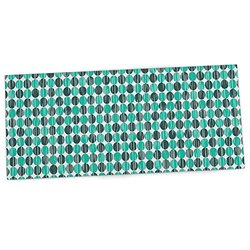 "KESS InHouse Michelle Drew ""Distressed Circles"" Teal Aqua Office Desk Mat, Blotter, Pad, Mousepad, 13 x 22-Inches"
