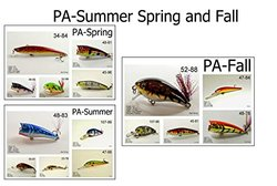 Akuna Seasonal Lures for Bass Fishing for Each of The USA 50 States (Pack of 15), Pennsylvania, Spring/Summer/Fall